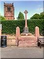 SJ4966 : War Memorial and St Andrew's Church, Tarvin by David Dixon