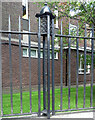 NZ2464 : Detail of railings, Queen Victoria Road, Newcastle by Stephen Richards