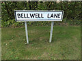 TM1865 : Bellwell Lane sign by Adrian Cable
