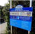ST8745 : APCOA car park information board near Warminster railway station by Jaggery