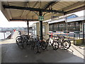 SZ5993 : Bicycles on Ryde Pier Head railway station by Jaggery