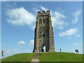 ST5138 : Remains of church on Glastonbury Tor by Gary Rogers