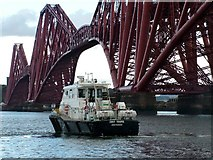 NT1378 : The Smit Young tender beneath the Forth Rail Bridge by Peter Evans