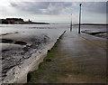 SD3448 : Knott End ferry slipway by Ian Taylor
