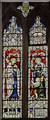 SK9240 : Stained glass window, St Mary's church, Syston by Julian P Guffogg