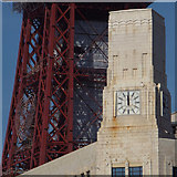 SD3035 : Clock tower, corner of the Albert and the Lion pub, Blackpool Promenade by Robin Stott