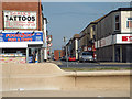 SD3035 : A view east down Bairstow Street from Blackpool Promenade by Robin Stott