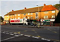 ST3090 : Spar delivery lorry and a row of shops, Malpas, Newport by Jaggery