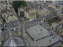 ST7564 : On the tower of Bath Abbey - View towards Kingston Parade by Colin Park