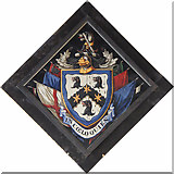 TL6153 : St Mary, Weston Colville - Hatchment by John Salmon