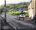 ST2196 : Low bridge warning sign and traffic calming, Celynen Road, Newbridge by Jaggery