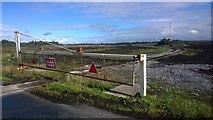 N1727 : Old Disused Peat Railway Crossing Gate by James Emmans