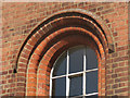 TL1507 : Brickwork round the windows of the Museum of St Albans by Chris Reynolds