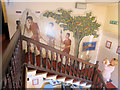 TL1507 : Photographing the Mural on the stairs of the Museum of St Albans by Chris Reynolds