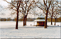 TQ2780 : Hyde Park, on a very cold Sunday in February 1985 by Ben Brooksbank