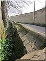 SP1714 : Cemetery wall, Sherborne by Derek Harper