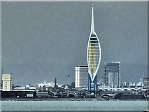 SZ6299 : The Spinnaker Tower Portsmouth from Union Street Ryde (IOW) by Steve  Fareham