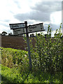 TM0968 : Roadsign on Oak Farm Lane by Adrian Cable