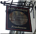 TM5393 : Sign for the Lake Lothing, Lowestoft by JThomas