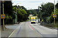 TF6916 : Yellow Van on Lynn Road at East Winch by David Dixon