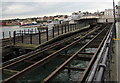 SZ5992 : Hovercraft terminal and railway station viewed from Ryde Pier by Jaggery
