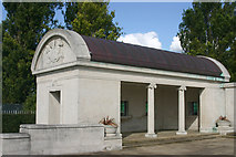 TQ7668 : North-western pavilion, Naval War Memorial, Chatham by David Kemp