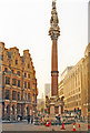 TQ2979 : Crimean War Memorial monument and Victoria Street from Broad Sanctuary, 1988 by Ben Brooksbank