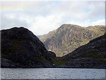 NG4919 : Dry valley by Loch nan Leachd by John Lucas
