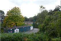 SE6250 : Garages and building site by DS Pugh