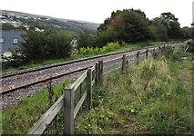 SO2508 : Single-track railway, Blaenavon by Jaggery