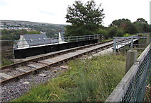 SO2508 : Railway bridge over Varteg Road, Blaenavon by Jaggery