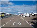 SE2241 : Walkway at Leeds/Bradford Airport by Trevor Littlewood
