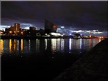SJ8097 : Manchester Ship Canal, Trafford Wharf by David Dixon