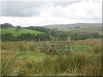 SD6715 : Stile on the path to Belmont south of Spring Reservoir by John Slater