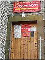 NY3239 : Door at Joe Strong & Son, Clogmakers by Rose and Trev Clough