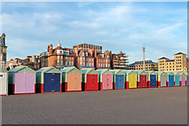 TQ2804 : Beach huts, Hove by Robin Webster