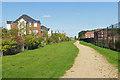 SU8468 : Walkway, Jennett's Park by Alan Hunt