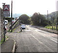 SO2603 : Humps for half a mile ahead sign, Abersychan by Jaggery