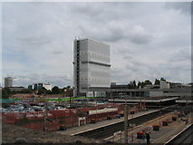 SP3378 : Station Tower under wraps by E Gammie