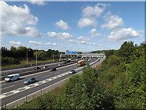 TQ5791 : M25 London Orbital Motorway by Geographer