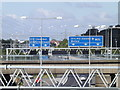 TQ5792 : Roadsigns on the M25 London Orbital Motorway by Adrian Cable