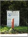 TQ5691 : Sewage Works sign on Nag's Head Lane by Geographer