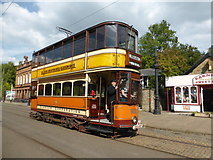 SK3454 : National Tramway Museum - driver training by Chris Allen
