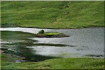 NM6330 : Caisteal Eoghainn a' Chinn Bhig in Loch Sguabain from the A849 by Jo Turner