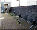 SO2603 : Bicycle racks and grey phonebox, Abersychan by Jaggery