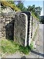 SK0486 : O/S  Bench  Mark  on  stone  gatepost  Kinder  Road by Martin Dawes