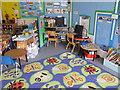 TQ2581 : 1st year classroom, Hallfield Primary School by David Hawgood