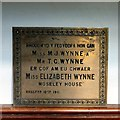 SH7882 : In memory of Miss Elizabeth Wynne by Gerald England