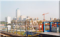 TQ3681 : London Docklands Development, 1997: Canary Wharf seen from Limehouse DLR station by Ben Brooksbank