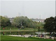 TQ3377 : Burgess Park Lake by Neil Theasby